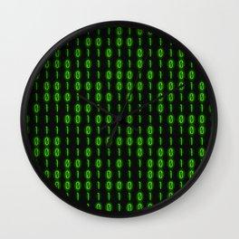 Binary Code Inside Wall Clock