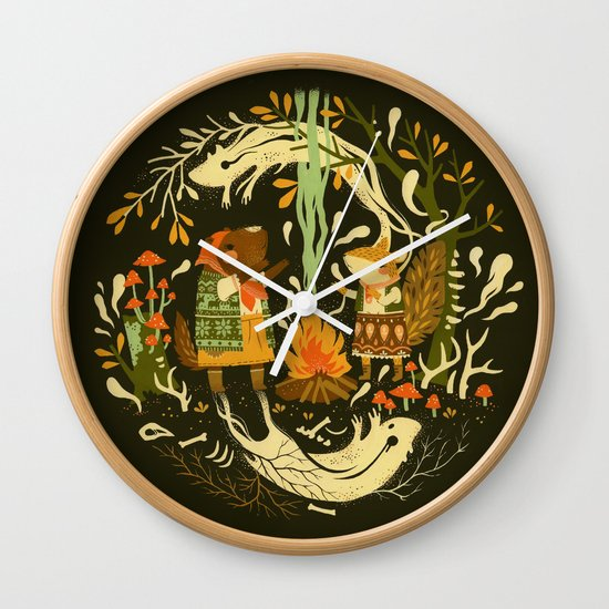 Animal Chants & Forest Whispers Wall Clock