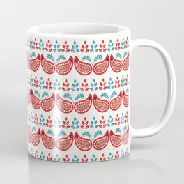 Boho flower paisley all over print. Coffee Mug