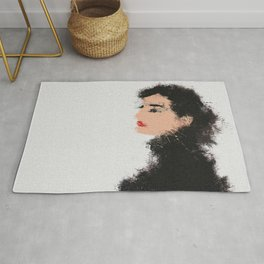 Audrey Hepburn Abstract Painting Rug