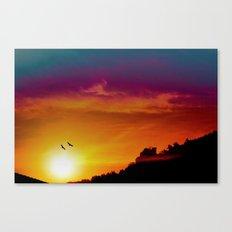 At the rising sun Canvas Print