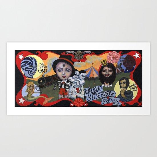 Sideshow Freaks Art Print