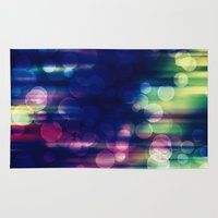 magical girl Area & Throw Rugs featuring Magical Girl Blue by Misi