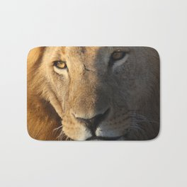 Lion Close-up Bath Mat