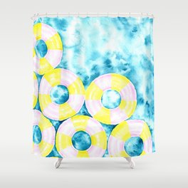 FLOAT AWAY Shower Curtain