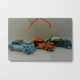 Vintage Hot Wheels Redline Custom Cord 'Redline Legends' Poster Metal Print