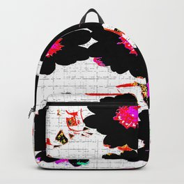 Flowers mixed media Backpack