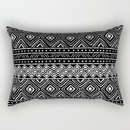 African Tribal Mudcloth // Black Rectangular Pillow