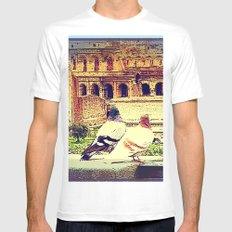 Romantic Rome White MEDIUM Mens Fitted Tee