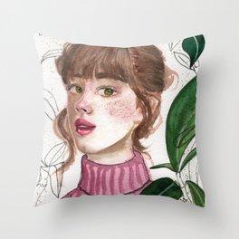 Girl Portrait 1 Throw Pillow