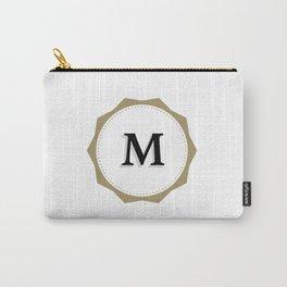 Vintage Letter M Monogram Carry-All Pouch