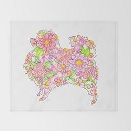 Pink Pomeranian Throw Blanket