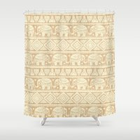 elephants Shower Curtains featuring ELEPHANTS by Oksana Smith