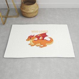 Just A Boy Who Loves Dragons Kids Dragon Boy Rug