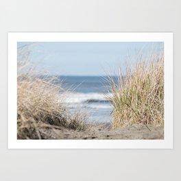 The Beach Beckons    Path To Ocean Shore Art Print