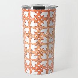 Living Coral Hearts Pattern Travel Mug