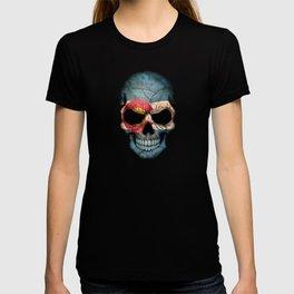 Dark Skull with Flag of Colorado T-shirt