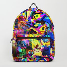 Abstract Mess Backpack