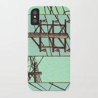 springsteen iPhone & iPod Cases featuring Nebraska Power Lines by Mighty Lark