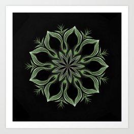 Alien Mandala Swirl Art Print