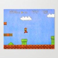 mario Canvas Prints featuring Mario by let's build a boat