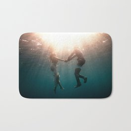 Breaking Up-Surreal Couple in the Ocean Bath Mat