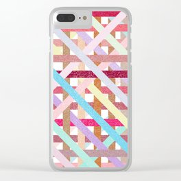 Structural Weaving Lines Clear iPhone Case