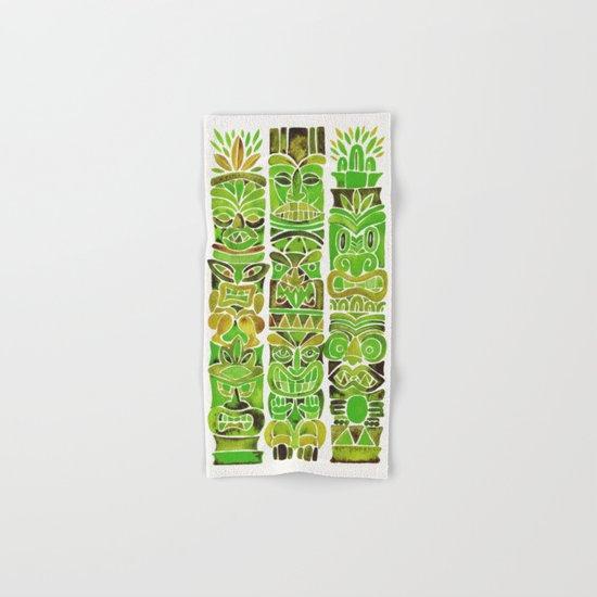 Tiki Totems – Green Hand & Bath Towel