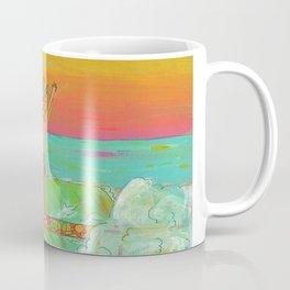 Hang 10 Retro Surf Dude Longboard Surf Coffee Mug