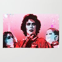rocky horror Area & Throw Rugs featuring The Rocky Horror Picture Show - Pop Art by William Cuccio aka WCSmack