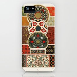 Indo-Persian pattern from L'ornement Polychrome (1888) by Albert Racinet (1825–1893).5 iPhone Case