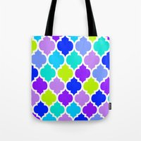 moroccan Tote Bags featuring Moroccan  by Saundra Myles