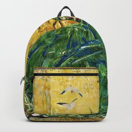 Frederick Childe Hassam - April, The Green Gown - Digital Remastered Edition Backpack