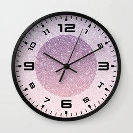 Ombre glitter #14 Wall Clock