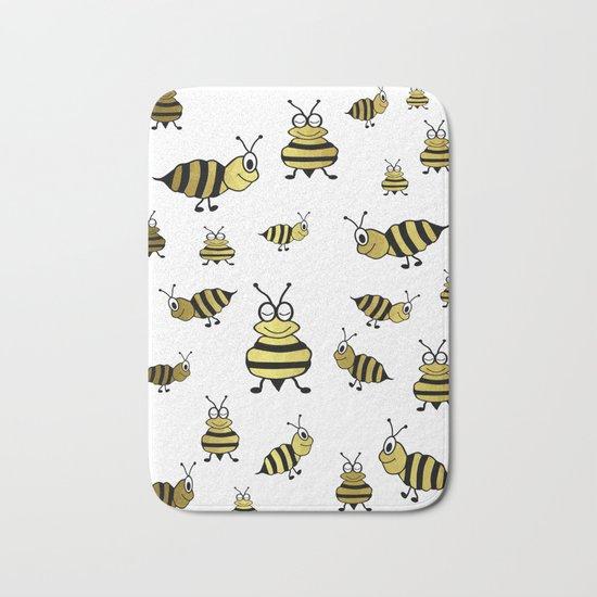 Golden Bees Bath Mat