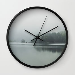 Fog - Landscape Photography Wall Clock