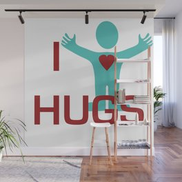 I heart Hugs Wall Mural