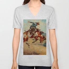 """""""Pitching Pony"""" by Oleg Wieghorst Unisex V-Neck"""