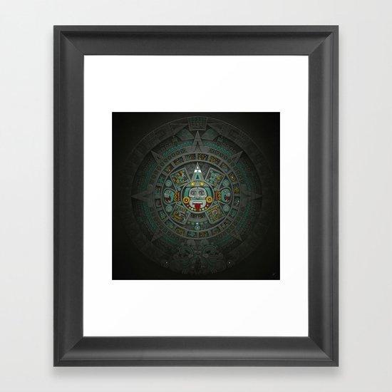 Stone of the Sun II. Framed Art Print