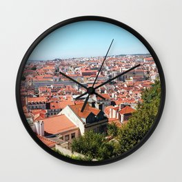 Lisbon, Portugal Analog 6x6 Kodak Ektar 100 (RR 162) Wall Clock