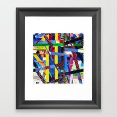Bruce (stripes 13) Framed Art Print