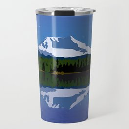 Starry Sky over Mt Adams Travel Mug