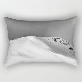 Snow Covered Mountain Slope Rectangular Pillow