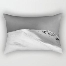 Snow Covered Mountain Slope Rectangular Pillow