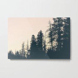 Orange Sherbert Skies | Mountainside Morning Metal Print