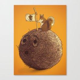 Conquering the biggest nut Canvas Print