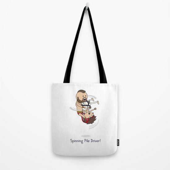 Spinning Pile Driver Tote Bag