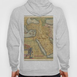 Vintage Map Print - 1571 Map of the Ottoman Empire Hoody