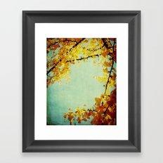 Gingko Branches Framed Art Print