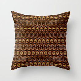 Dividers 07 in Orange Brown over Black Throw Pillow